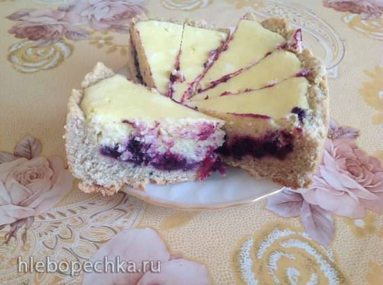 Финский пирог с черникой