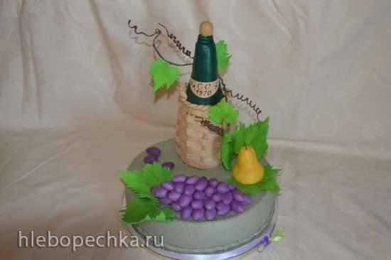Бутылка из мастики для торта (мастер-класс)Бутылка из мастики для торта (мастер-класс)