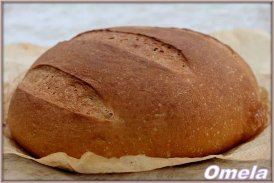 Булка с патокой из пшеничной муки 1 сорта (в духовке)