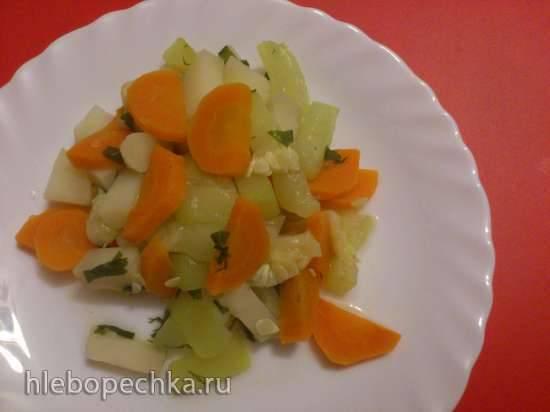 Рагу из баклажанов с фасолевым ассорти Рагу овощное \