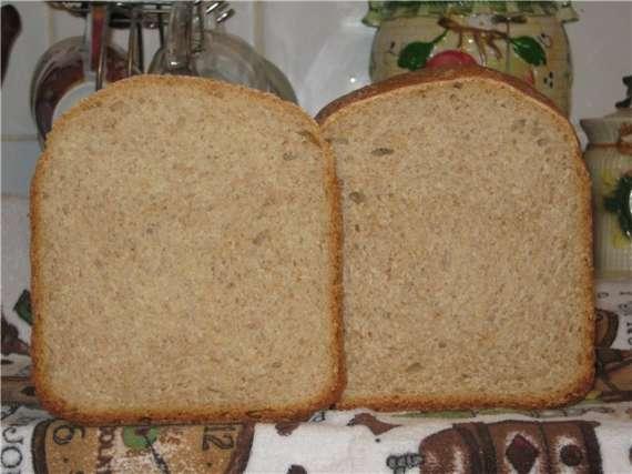 Опарный крестьянский хлеб в хлебопечке