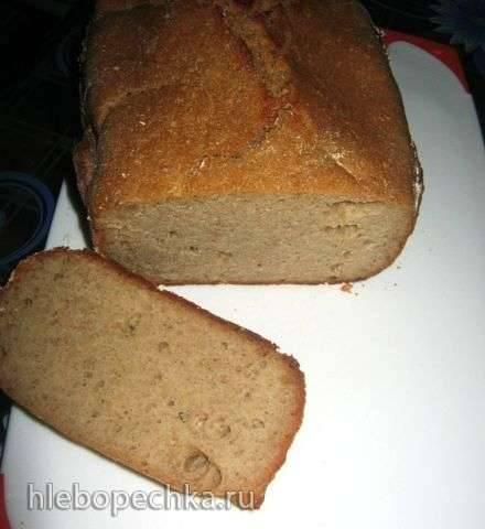 Ржано-пшеничный хлеб с овсяными хлопьями и отрубями на кефирной закваске (в ХП)