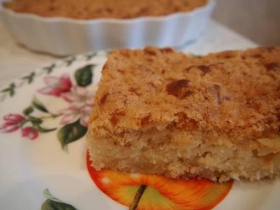 Кекс яблочный с марципановым штройзелем