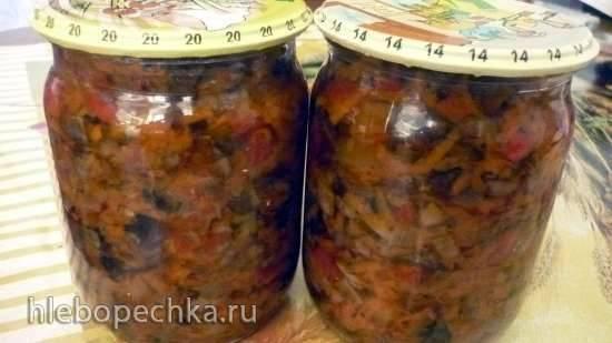 Салат грибной с овощами на зиму