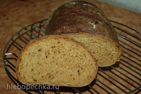 Пшенично-ржаной хлеб с томатами (духовка)