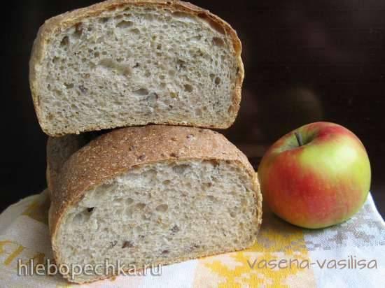 Ржаной хлеб на  яблочном пюре в хлебопечке