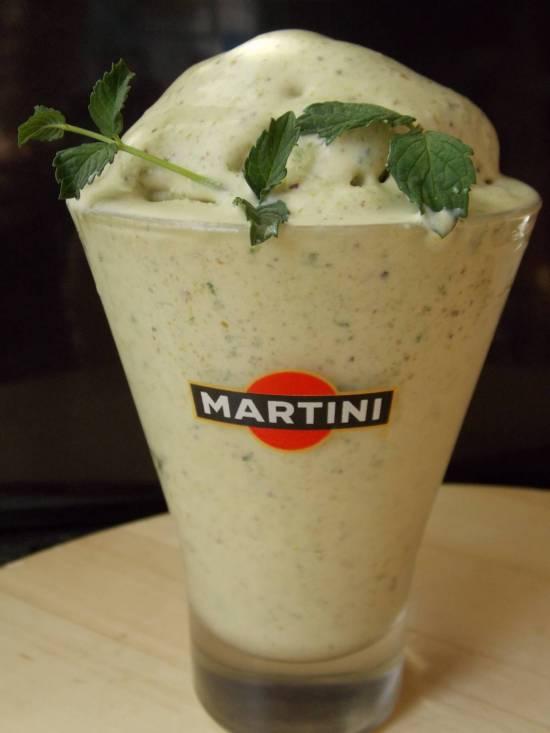 Мороженое сливочное из фисташек  (Е. Молохавец, 1861г, рецепт №1902) в мороженице Brand