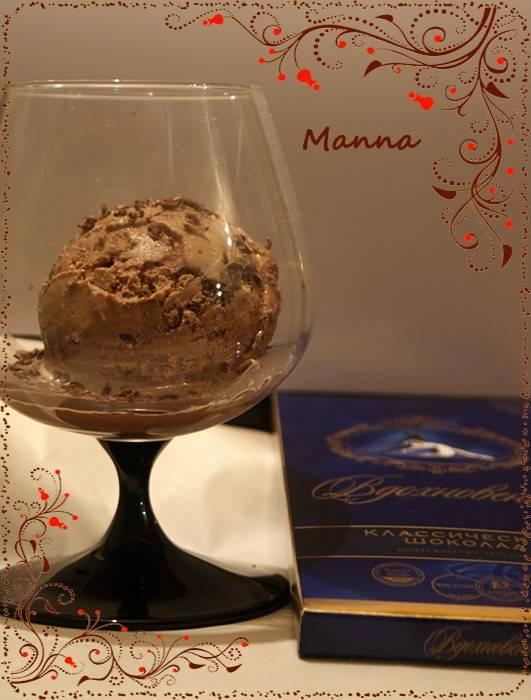 Шоколадное мороженое с прослойкой из лимонного курда
