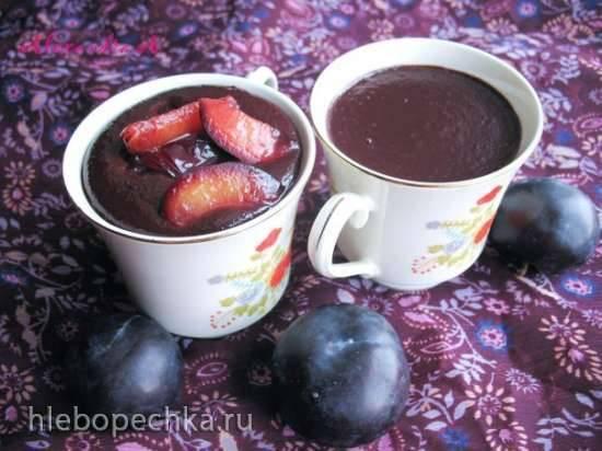 Сливово-шоколадный мусс