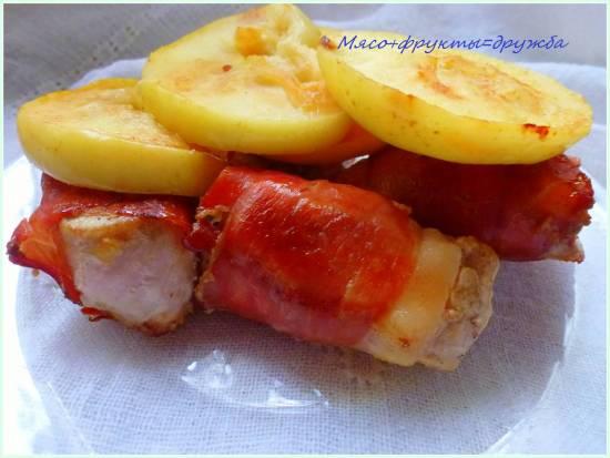 Мясо+яблоки=дружба ( скороварка-мультиварка Brand 6051)