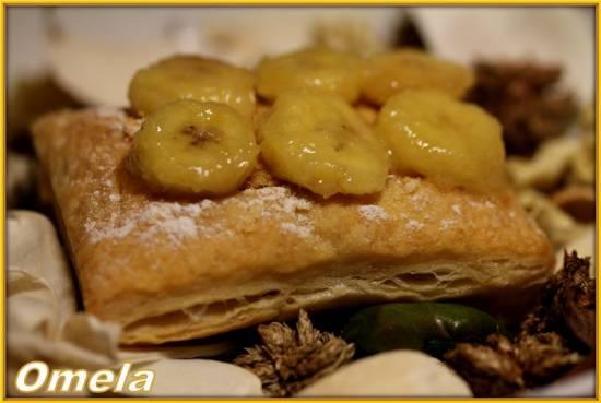 Слойки бананово-карамельные
