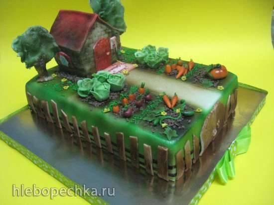 Торт Дачка (мастер-класс)