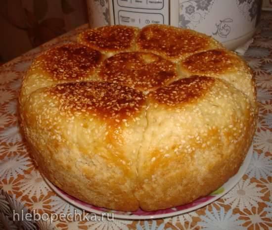 Хлеб Ромашка в мультиварке Polaris 0508D floris