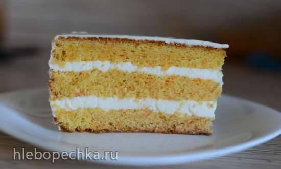 """Торт """"Нежный морковный"""" с ароматным суфле"""