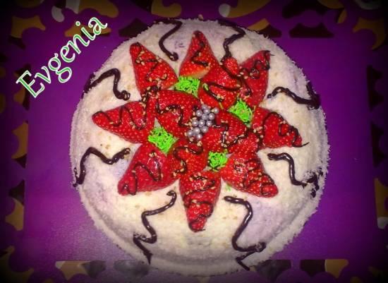 Десертный торт из печенья савоярди (без выпечки)