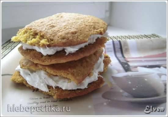 Тыквенно-овсяные пирожные с зефирным кремом (Pumpkin Oatmeal Cream Pies)