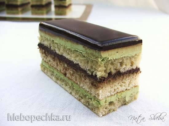 Торт Опера Зеленый чай (Opera Green Tea, мастер-класс)