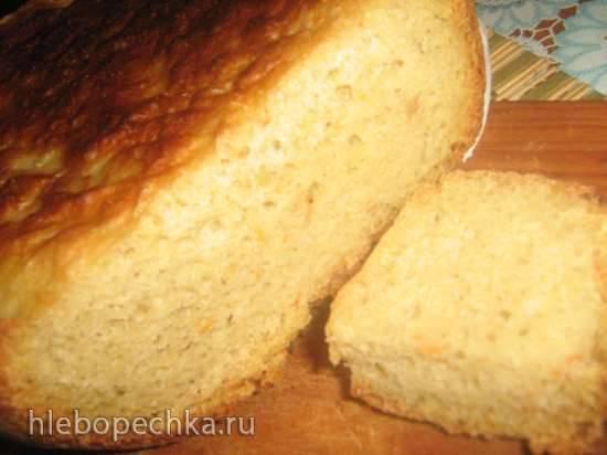 Хлеб пшенично-кукурузный с луком и морковью