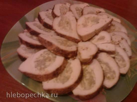 Куриное филе фаршированное сыром и луком (мультиварка Yummy YMC-506)