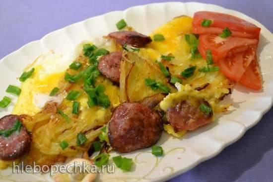 Картофельные оладьи цельные под яйцом