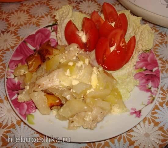 Рыба с картофелем в мультиварке Polaris 0508D floris