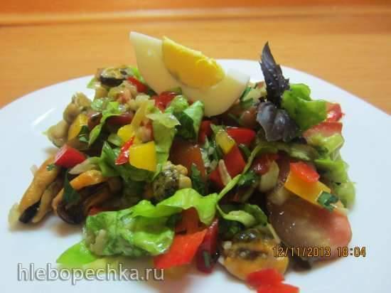 Салат из копченой трески с апельсинами
