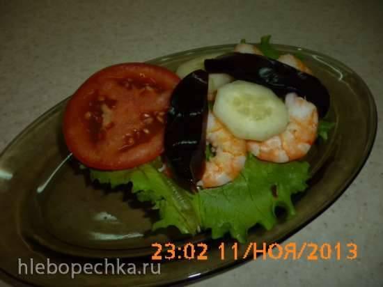 Датский бутерброд смерребред с креветками и желе из соевого соуса (Shrimp Smorrebrod)