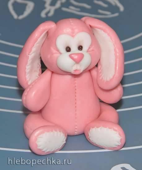 Лепка зайчика-игрушки из мастики (мастер класс) Лепка зайчика-игрушки из мастики (мастер класс)