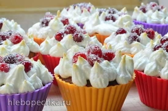 Красносмородиновые маффины с меренгой (Redcurrant Muffins with Meringue)