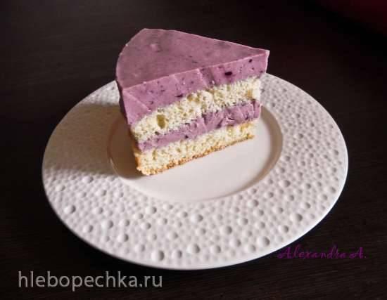 Торт черносмородиновый