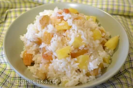 Каша рисовая с изюмом и ананасом в мультиварке Oursson 4002