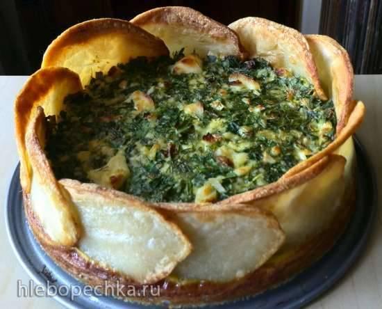 Картофельный пирог с зеленью (Spinach and spring herb torta in a potato crust)