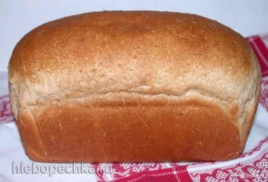 Мягкий хлеб для тостов с овсяными хлопьями и цельнозерновой мукой