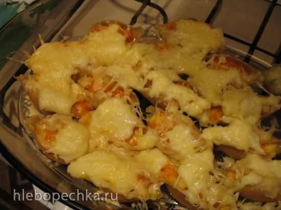 Конкильони, фаршированные тыквой и сыром моцарелла