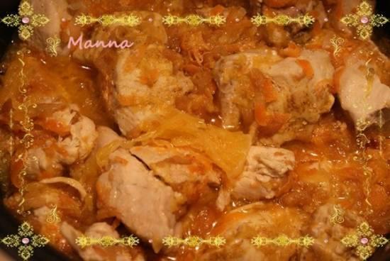 Куриные грудки с фруктами на овощной подушке (Kromax MC-31)