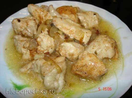 Рагу из куриной грудки Минутка (скороварка Polaris 0305)