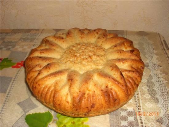 Хлеб с сыром и колбасой (хлебопечка)