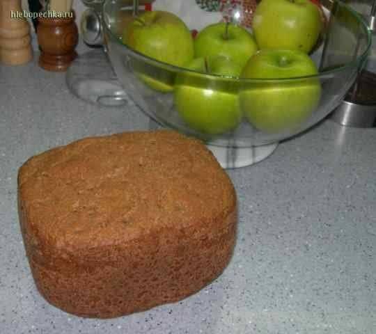 Хлеб пшенично-ржаной с отрубями на кефирной закваске.