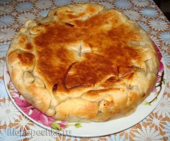 Постный пирог в мультиварке Polaris 0508D floris