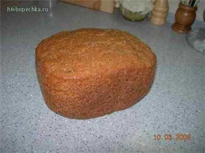 Пшеничный хлеб 65С с отрубями на закваске из ржаного неферментированного солода