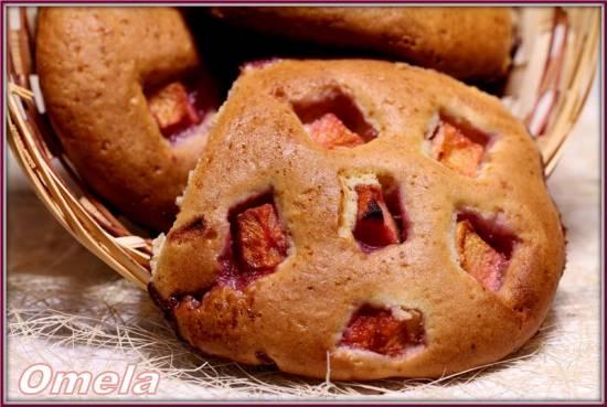 Сметанные лепешки с яблоком