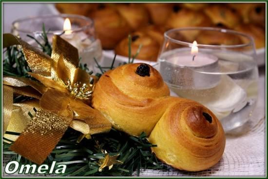 Шафрановые булочки на день святой Люсии