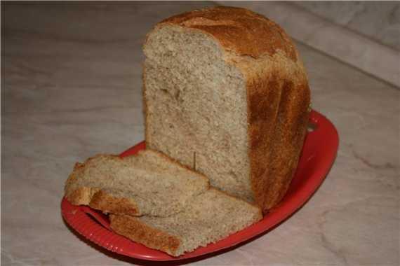 Диетический хлеб с приправами для салата  (хлебопечка)