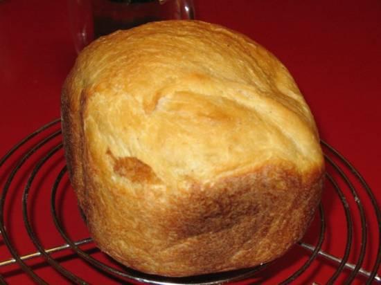 Французский хлеб с отрубями на минералке (хлебопечка)