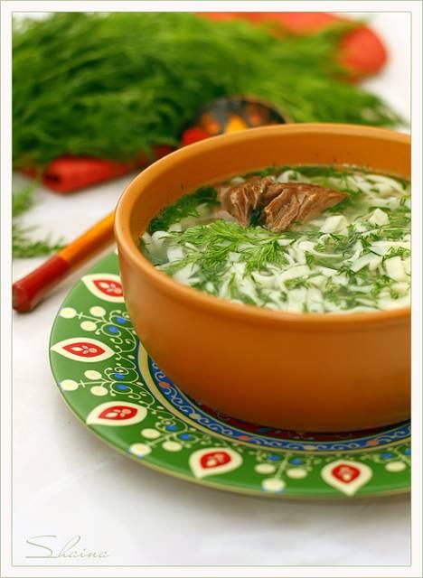 Рецепты с использованием Кухонной машины Токмач по-татарски или суп-лапша домашняя