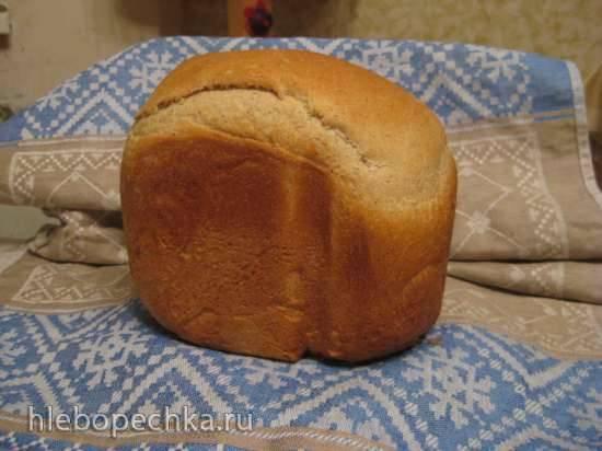 Хлеб пшеничный со шротом расторопши в хлебопечке