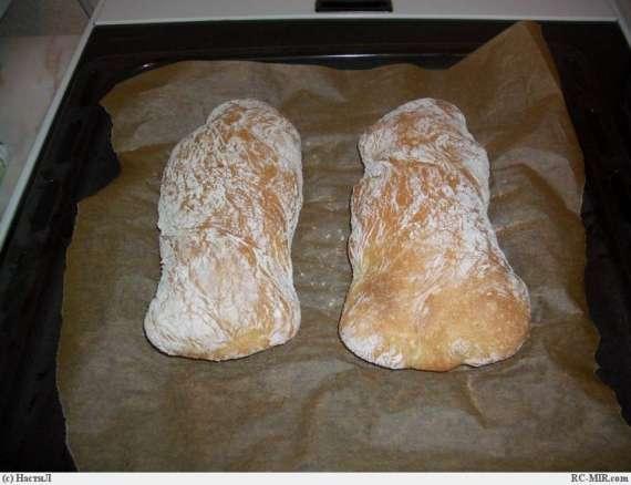 Чиабатта (замес в хлебопечке)