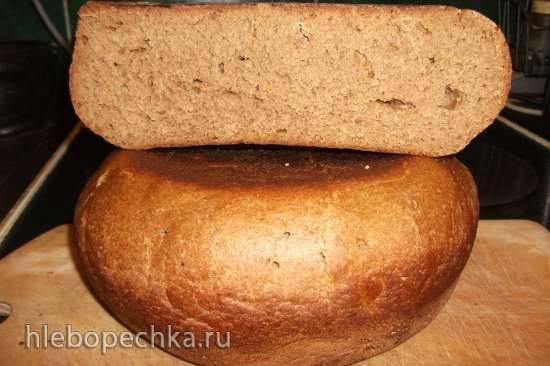 Хлеб ржано-пшеничный на закваске Лактина и капустным рассолом (мультиварка Steba DD1)