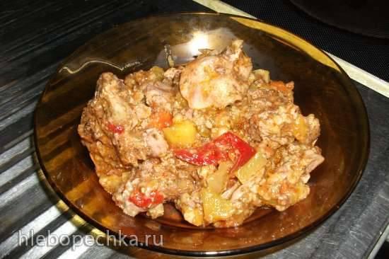 Куриная печень с рисом и овощами в мультиварке Steba