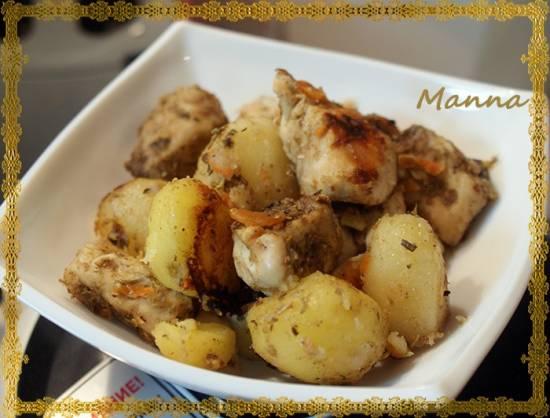"""Картофель с мясом на """"Экспрессе"""" (мультиварка Brand 701)"""